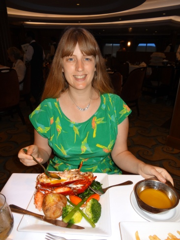 Oasis of the Seas main restaurant Joanne and lobster