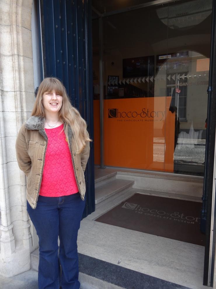Bruges - April 2015 - Joanne at Choco Story