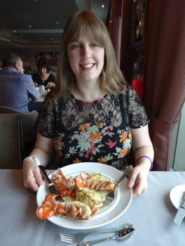 Anthem of the Seas Joanne and lobster