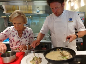 Britannia 6 July 2015 The Cookery Club Mary Berry and James Martin cooking