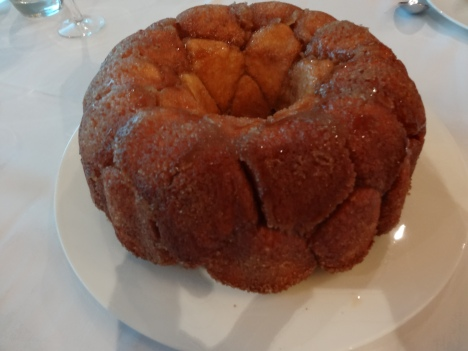 Britannia 6 July 2015 The Cookery Club James Martin dinner night monkey bread