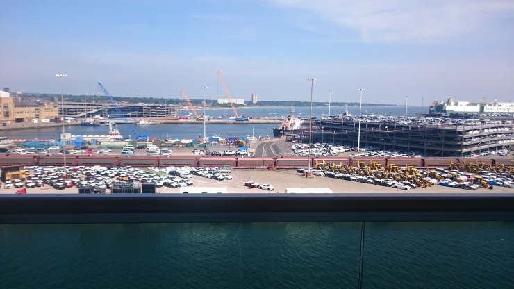 Britannia May 2016 Southampton view of car park