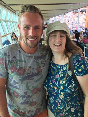 Independence of the Seas 9 September 2016 Joanne and beat boxer man