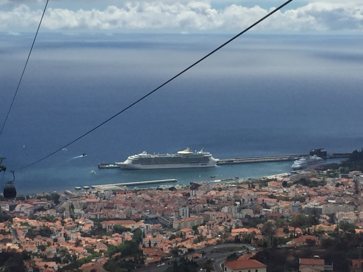 Funchal - September 2016 - view of Royal Caribbean Independence of the Seas
