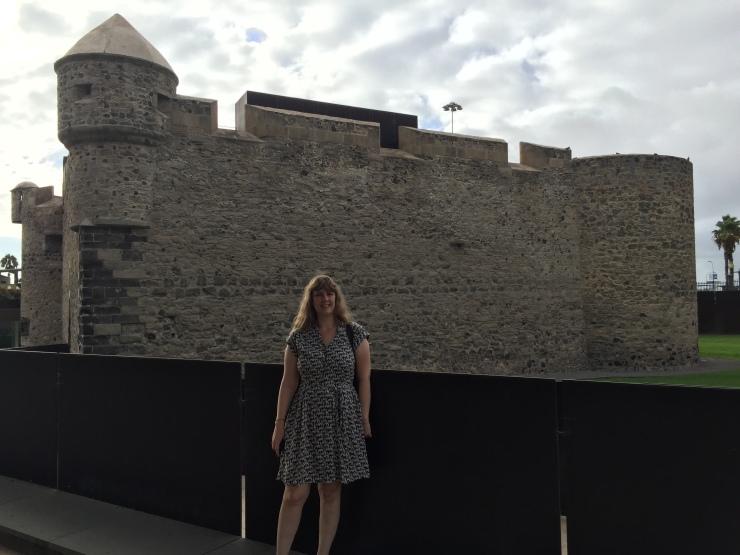 Las Palmas - September 2016 - Joanne and castle