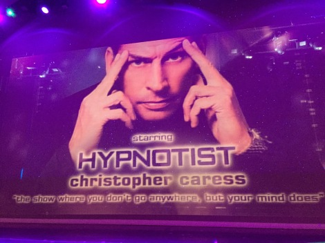 Independence of the Seas 9 September 2016 hypnotist