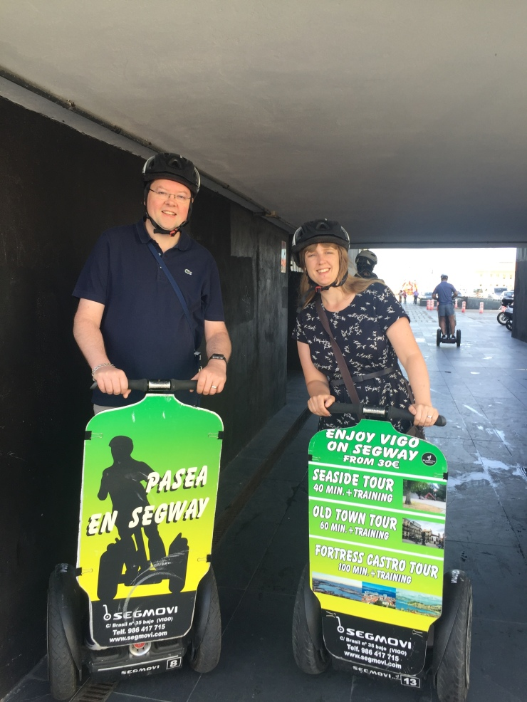 Vigo - September 2016 - Jason and Joanne on Segway