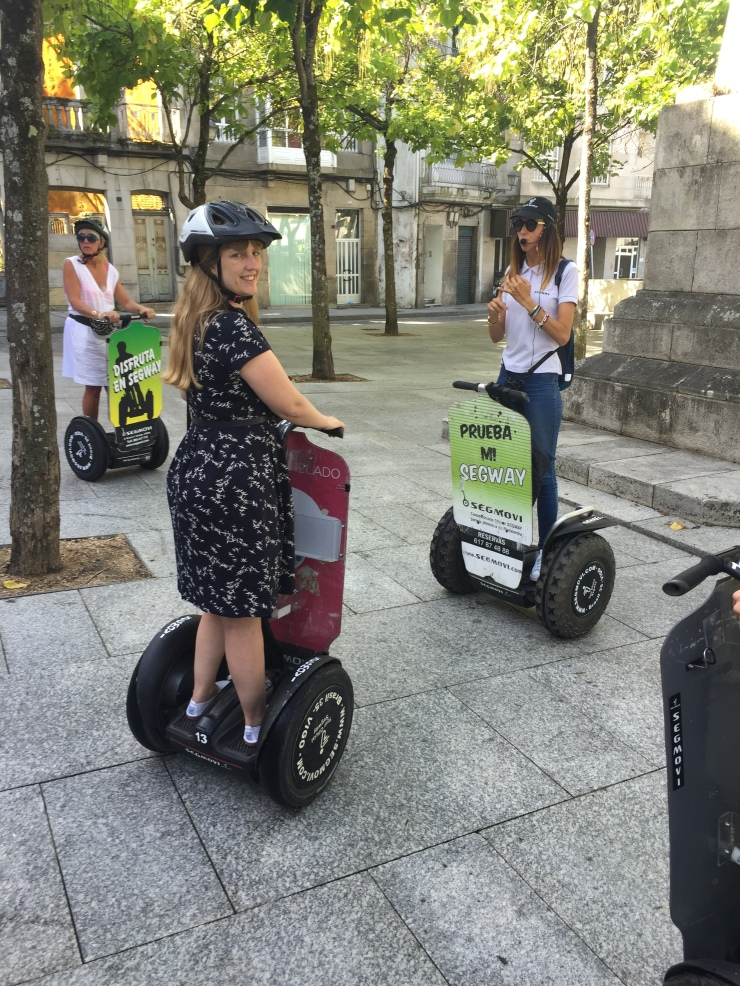 Vigo - September 2016 - Joanne on Segway