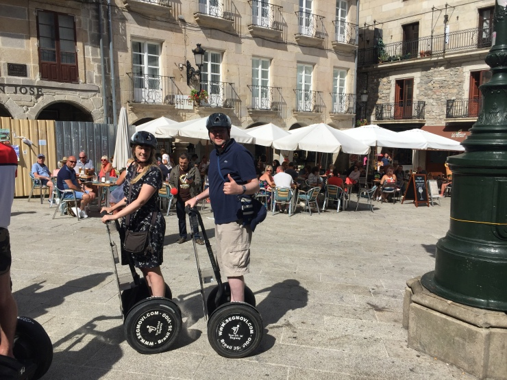 Vigo - September 2016 - Joanne and Jason on Segway around Vigo streets