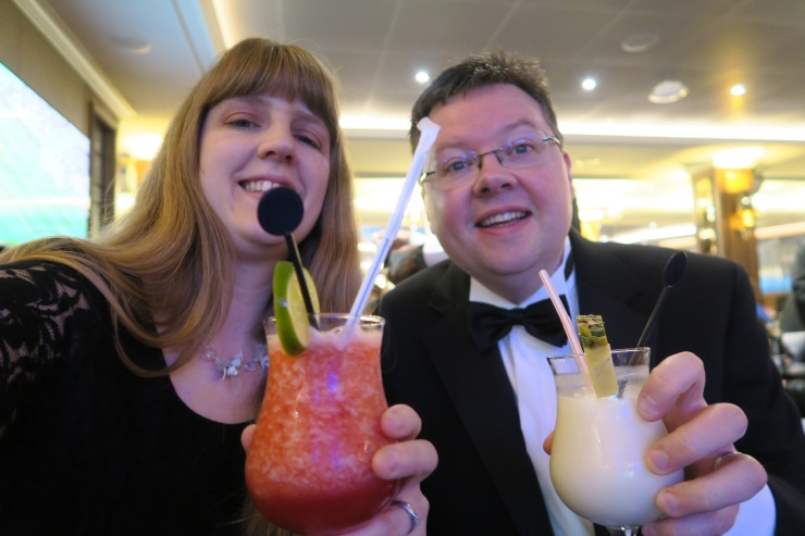 Britannia May 2016 Joanne and Jason with cocktails