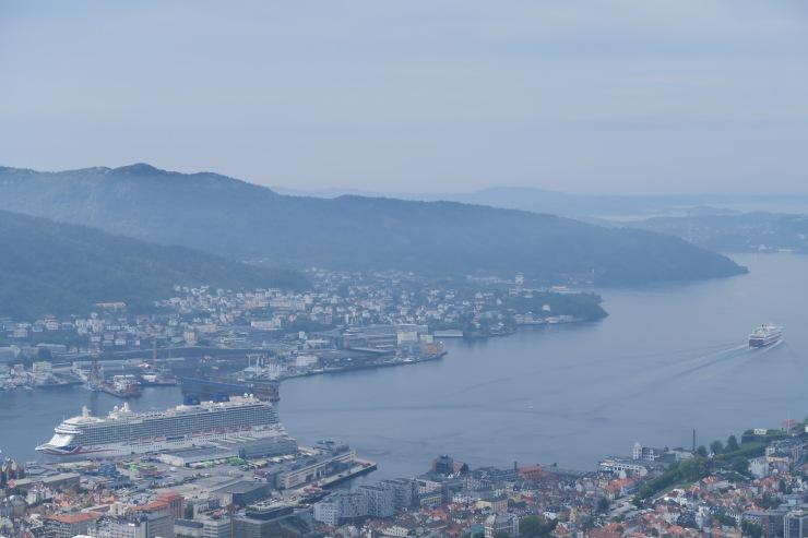 Bergen - May 2016 - P&O Britannia in distance