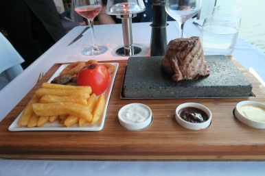 Britannia May 2016 Beach House sizzling steak