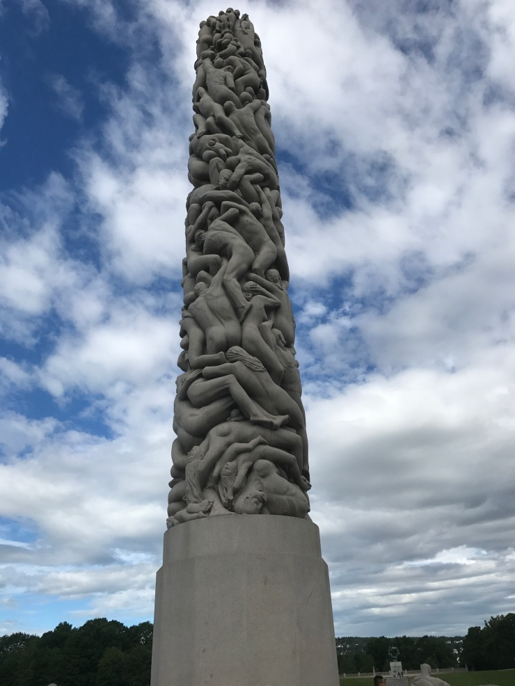 Oslo - June 2017 - The Vigeland Park column of people