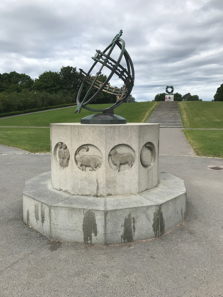 Oslo - June 2017 - The Vigeland Park sun dial