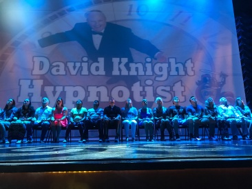 Independence of the Seas 29 June 2017 David Knight The Hypnotist with me on stage