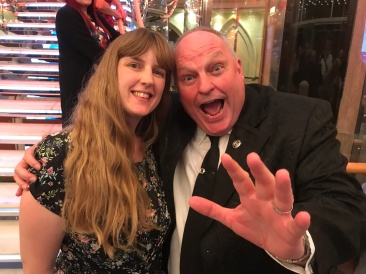 Independence of the Seas 29 June 2017 Joanne and hypnotist