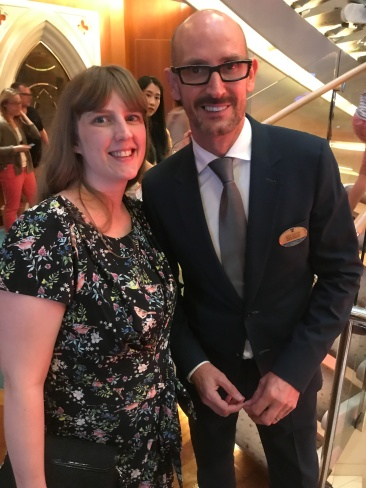 Independence of the Seas 29 June 2017 Joanne and Joff Eaton the Cruise Director