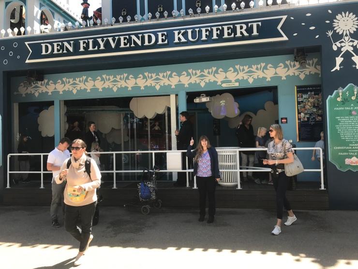 Copenhagen - June 2017 - Tivoli Gardens Den Flyvende Kuffert ride