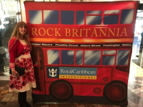 Independence of the Seas 29 June 2017 Joanne at Rock Britannia party