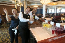 Independence of the Seas 9 September 2016 waiters at Brunch