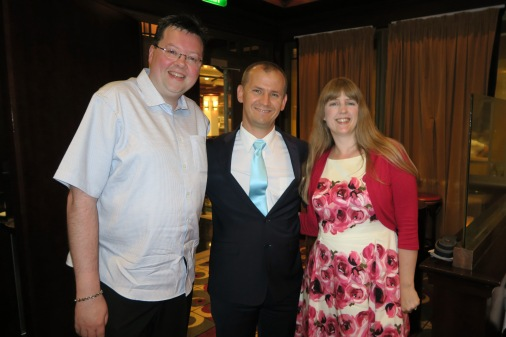 Independence of the Seas 9 September 2016 Jason, head waiter and Joanne Chops Grille