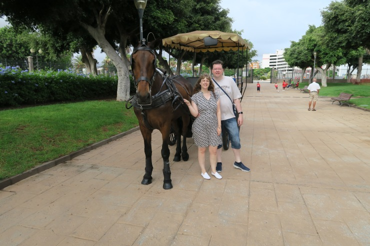 Las Palmas - September 2016 - Joanne and Jason horse and cart