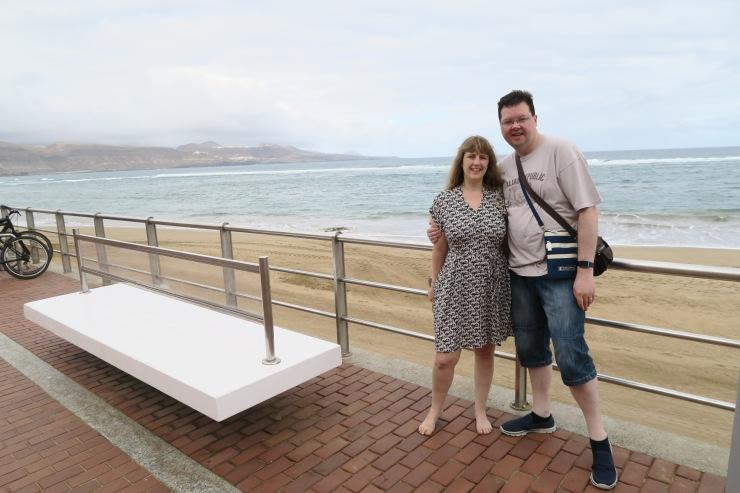 Las Palmas - September 2016 - Joanne and Jason at beach