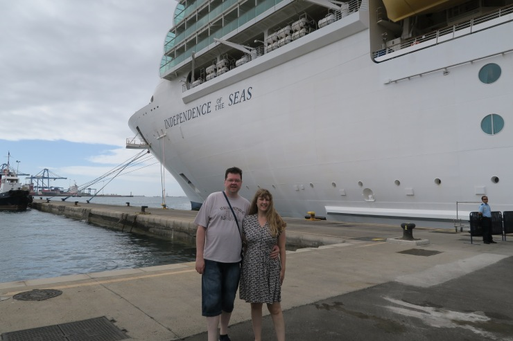 Las Palmas - September 2016 - Jason and Joanne outside Independence of the Seas
