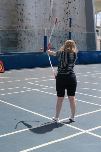 Independence of the Seas 9 September 2016 Joanne archery