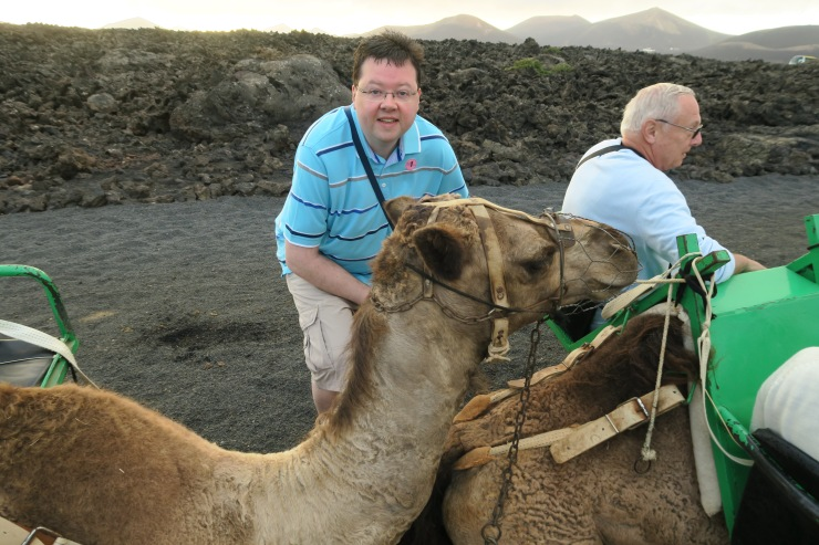 Lanzarote - September 2016 - Jason and camel