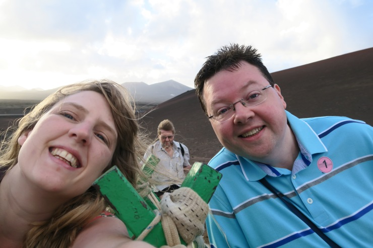 Lanzarote - September 2016 - Joanne and Jason riding camel