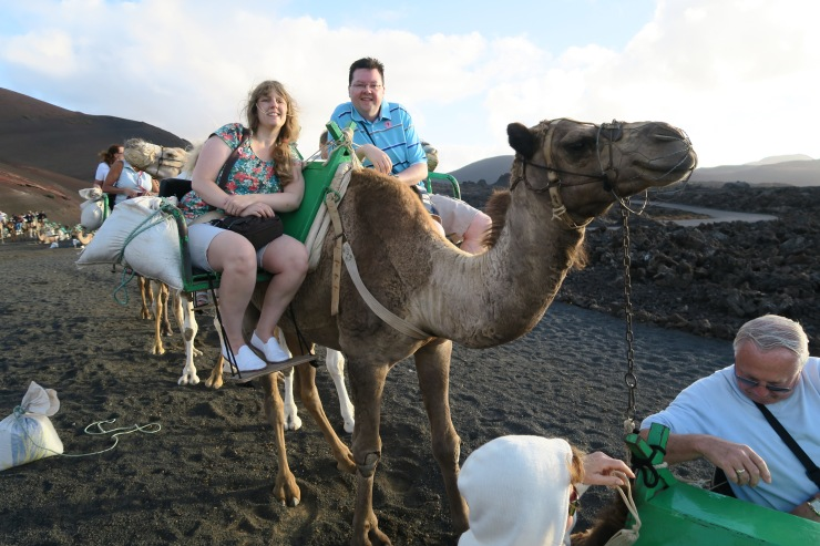 Lanzarote - September 2016 - Joanne and Jason riding camels