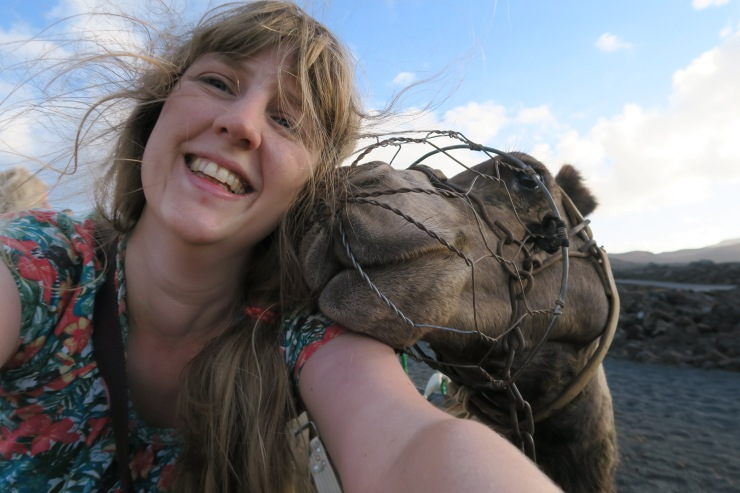 Lanzarote - September 2016 - Joanne and selfie with camel