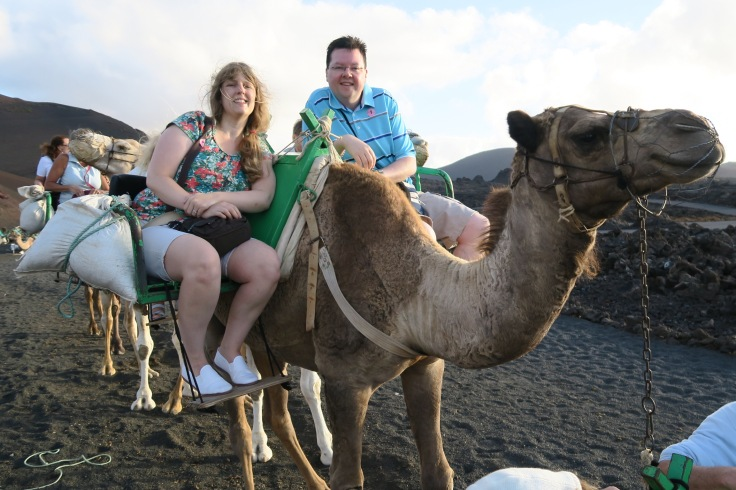 Independence of the Seas 9 September 2016 Lanzarote camel Joanne and Jason