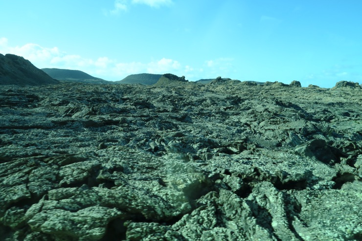 Lanzarote - September 2016 - view of lava rock landscape