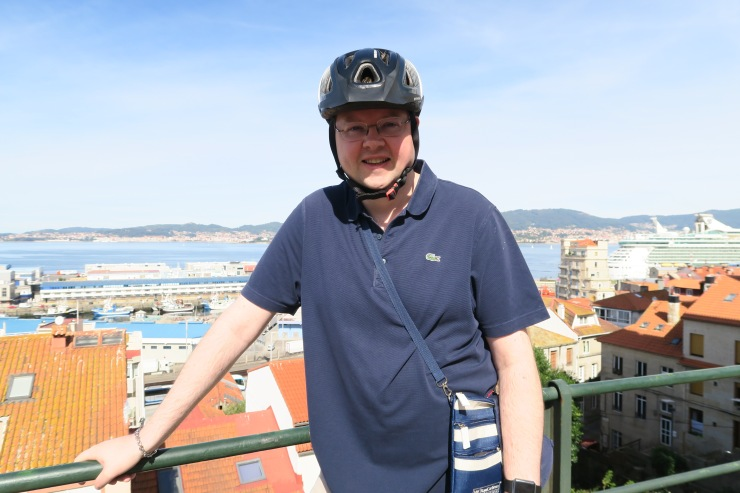 Vigo - September 2016 - Jason and Independence of the Seas in the background