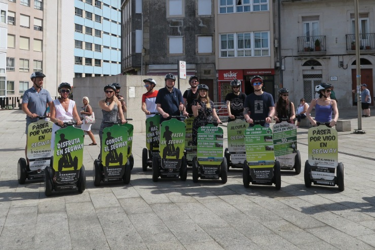 Vigo - September 2016 - Jason and Joanne on Segway group shot