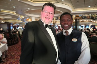Independence of the Seas 9 September 2016 Jason and waiter