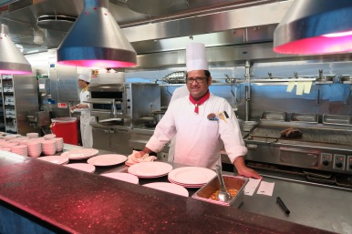 Independence of the Seas 9 September 2016 Chops Grille kitchen