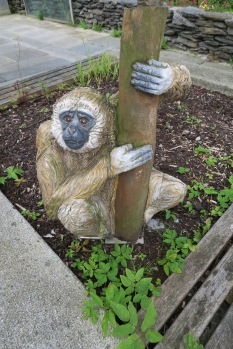 Independence of the Seas 29 June 2017 Stavenger wooden monkey