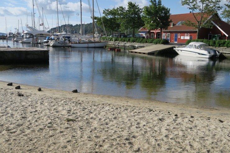 Kristiansand - June 2017 - beach and harbour
