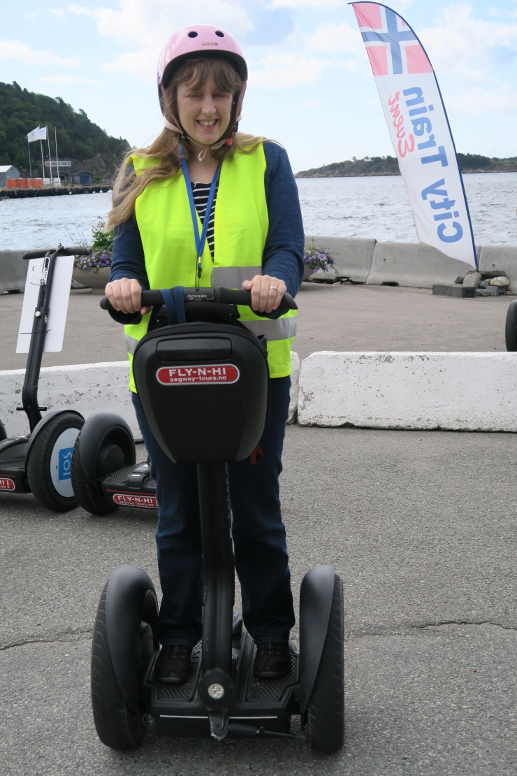 Kristiansand - June 2017 - Joanne on segway