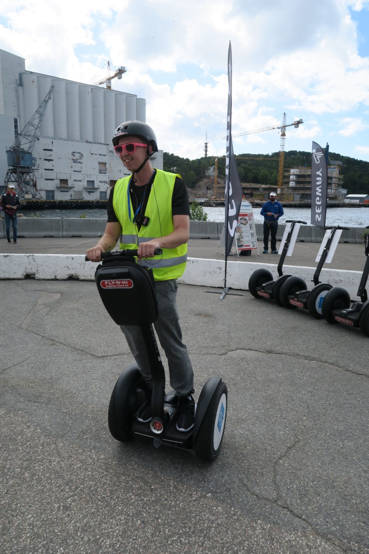 Kristiansand - June 2017 - Tom (entertainment crew) on segway