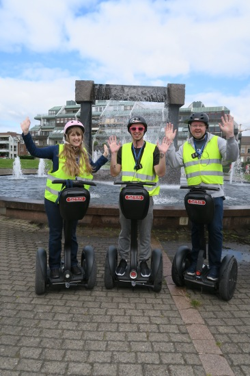 Independence of the Seas 29 June 2017 Kristiansand Segway Joanne, Tom entertainment crew and Jason