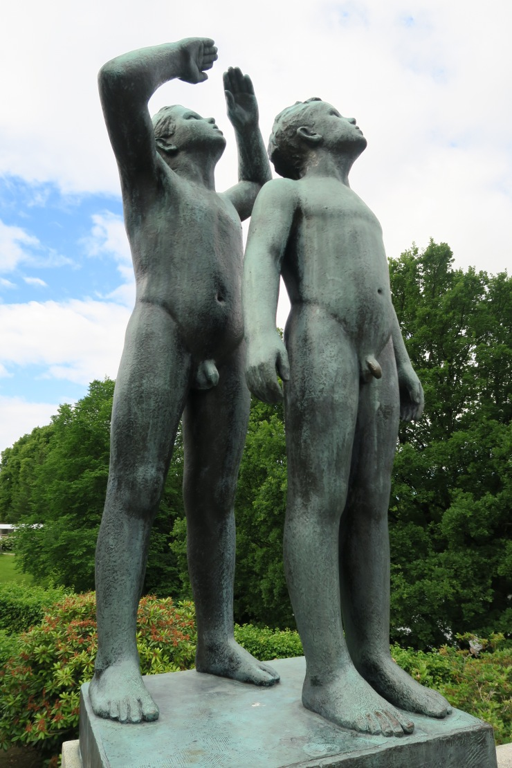 Oslo - June 2017 - The Vigeland Park statue of boys