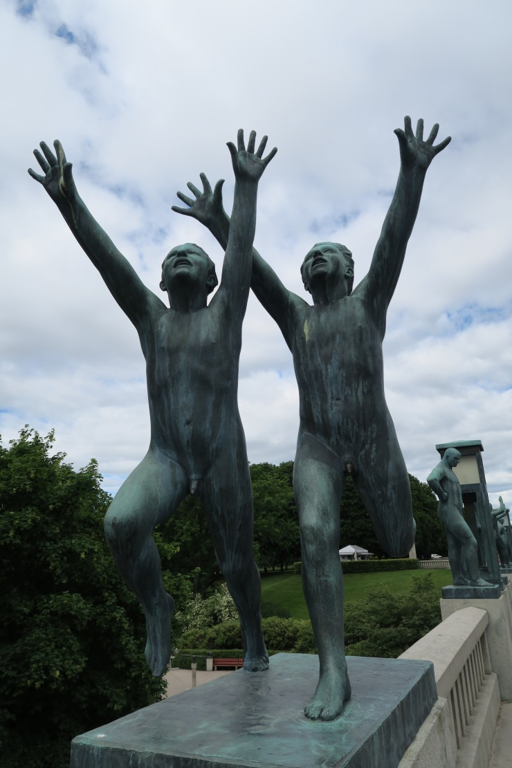 Oslo - June 2017 - The Vigeland Park statue of young men