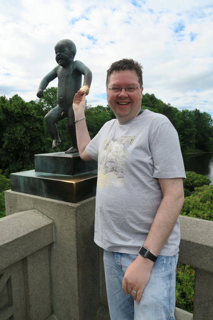 Oslo - June 2017 - The Vigeland Park Jason with famous lucky baby statue
