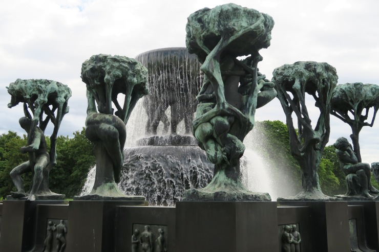 Oslo - June 2017 - The Vigeland Park fountain of tree of life
