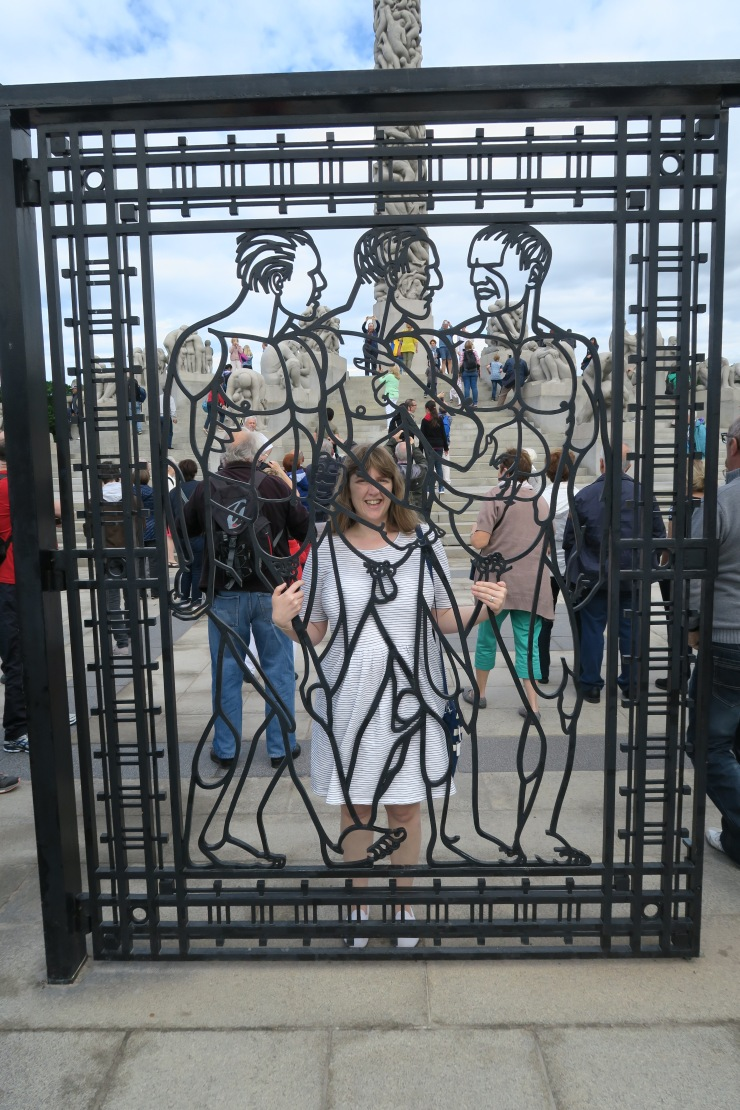 Oslo - June 2017 - The Vigeland Park gate with Joanne