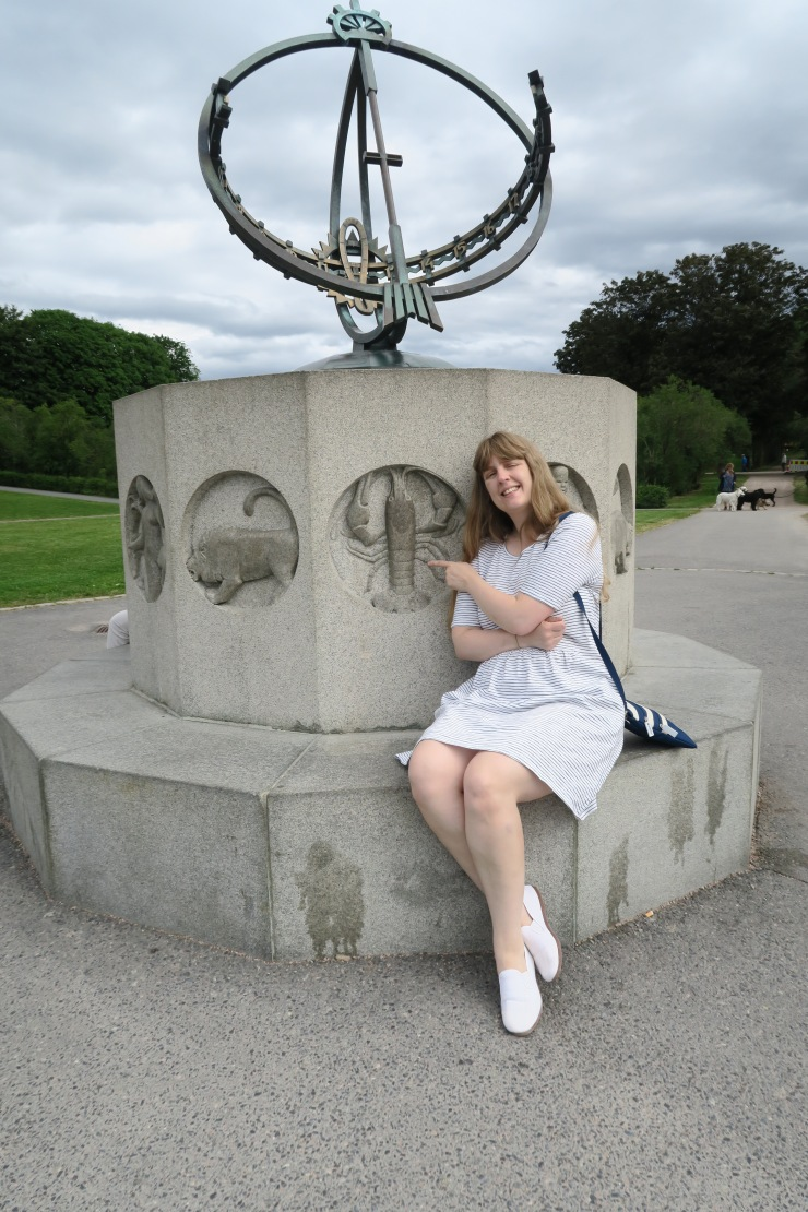 Oslo - June 2017 - The Vigeland Park Joanne at sun dial